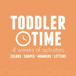 Toddler Time Activities