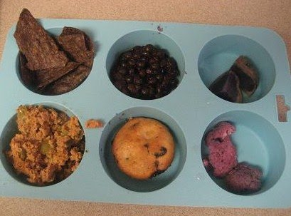Muffin Tin Monday - Blue and Purple Foods
