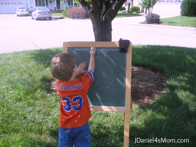 Using Chalk Under a Tree