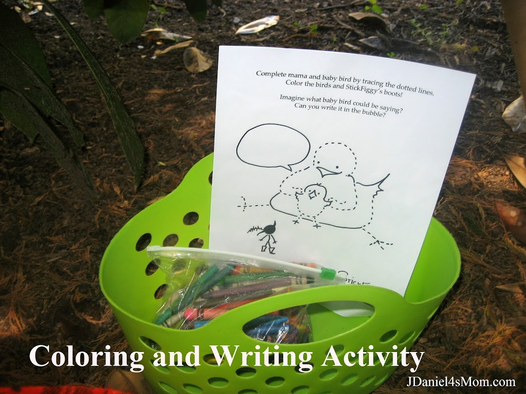 Stick Figgy- Coloring and Writing Area