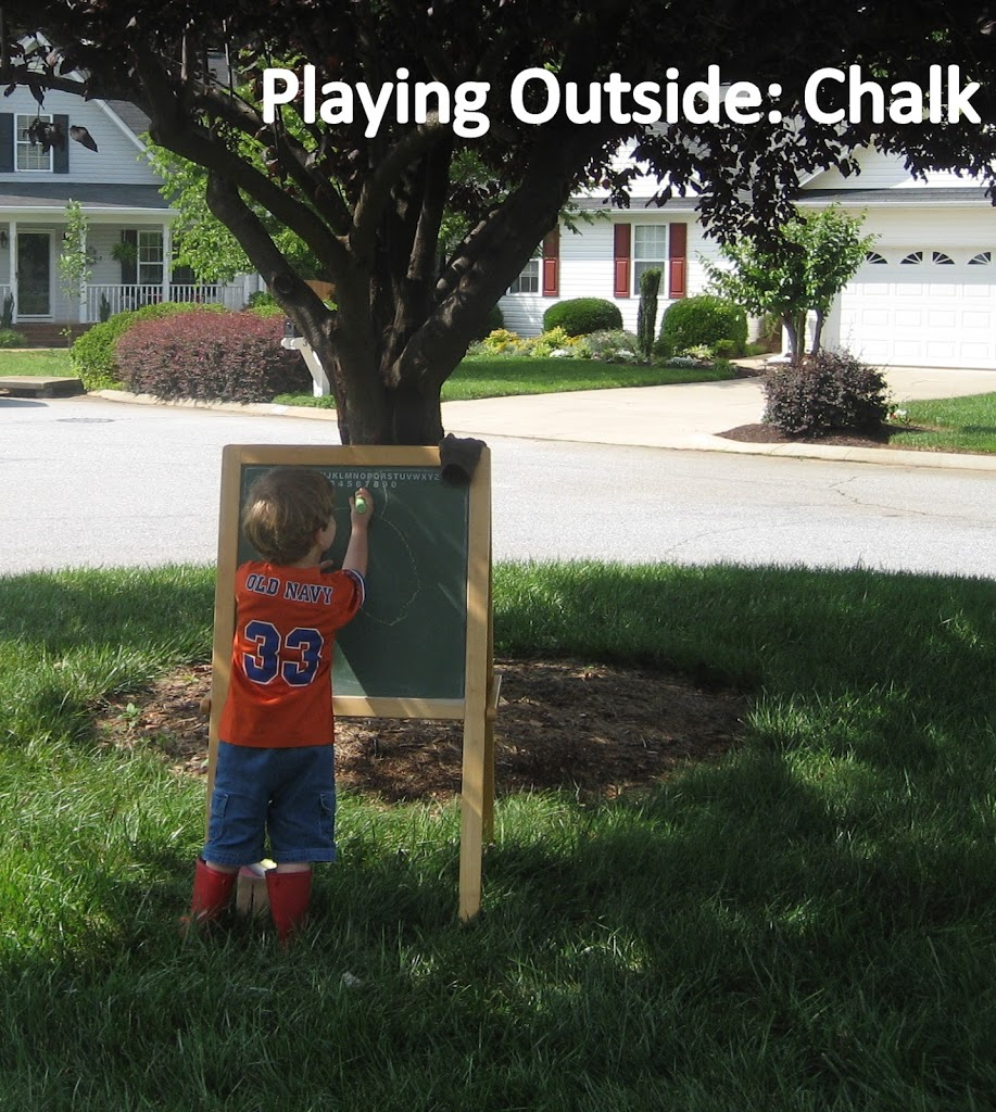 Playing Outside with Chalk