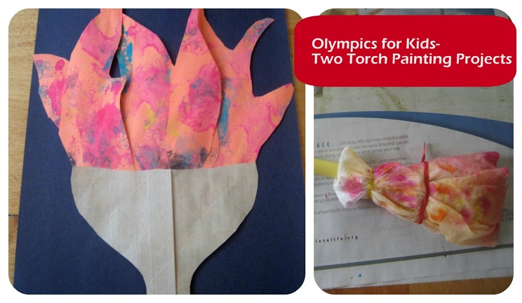 Olympics for Kids: Olympic Torch Painting Projects