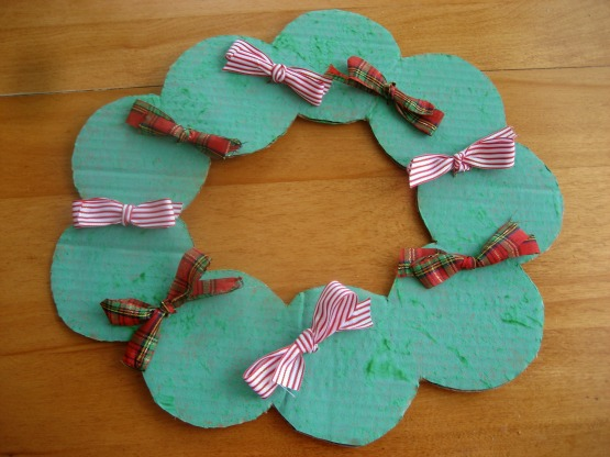 Holiday Hop for Goodies- Cardboard Advent Candy Wreath