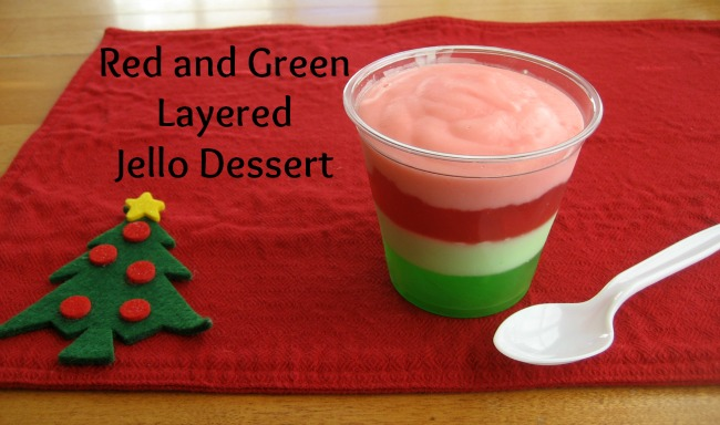 Christmas Recipe: Red and Green Layered Jello Dessert