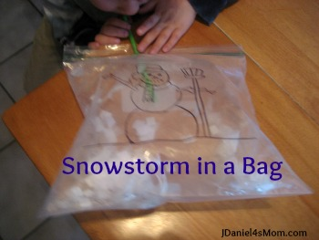 preschool activity snowstorm in a bag jdaniel4s mom. Black Bedroom Furniture Sets. Home Design Ideas