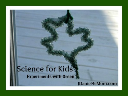 Science for Kids- Experiments with Green