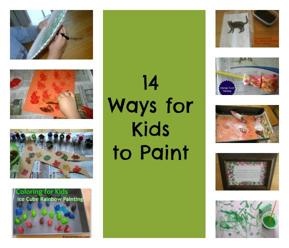 14 Ways for Kids to Paint