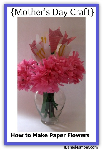 {Mother's Day Craft} How to Make Paper Flowers