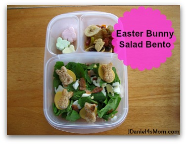 Easter Bunny Salad Bento for Kids