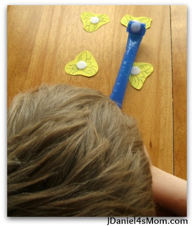 100 Days of Play - Party Blower Frog Catching Game