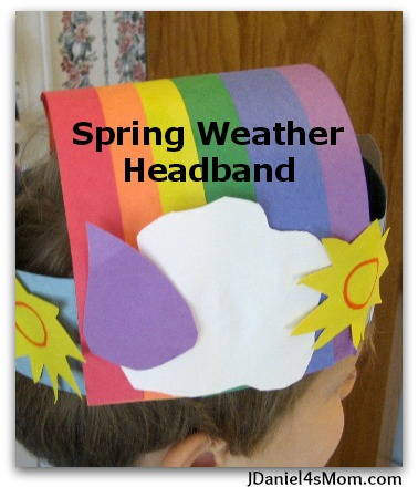 Spring Craft for Kids - Weather Headband