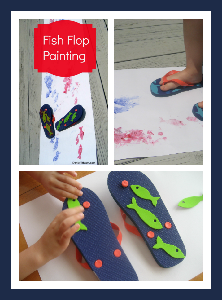 Summer Craft - Fish Flop Painting