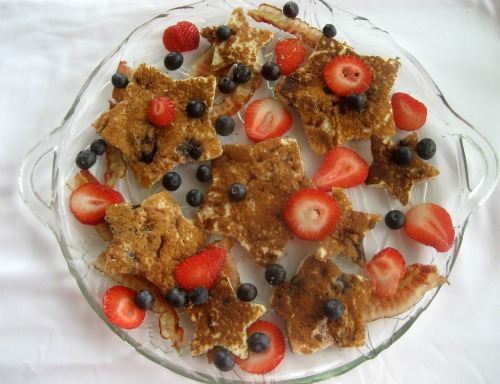 Fun Foods Cookie Cutter Food Creations -Star Shaped Berry Pancakes