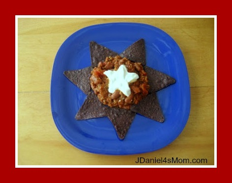 Chili Recipe with Patriotic Colors