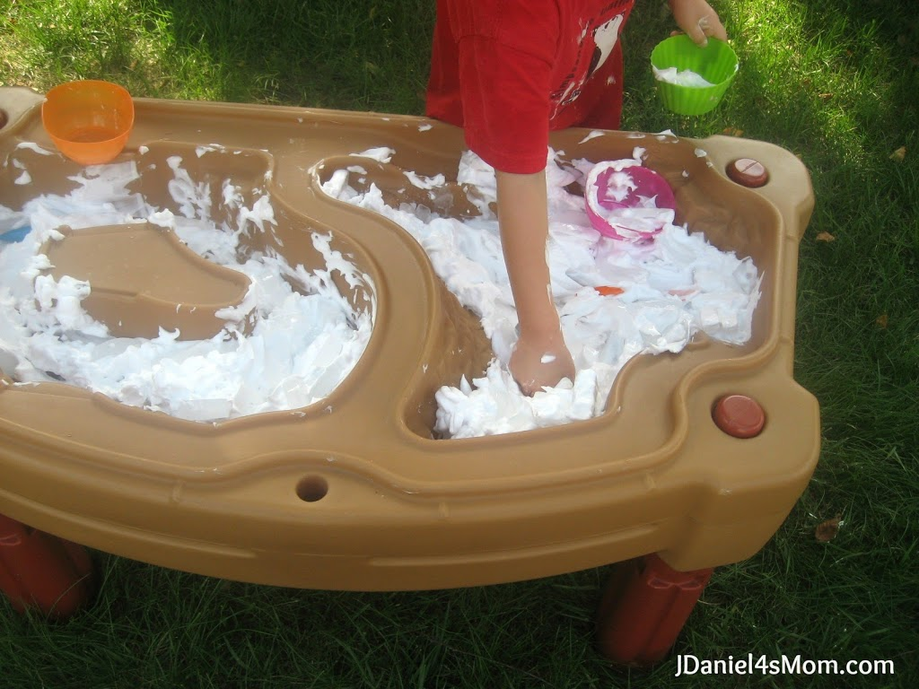 Preschool Play- Ice Cream Game With Shaving Cream and Ice
