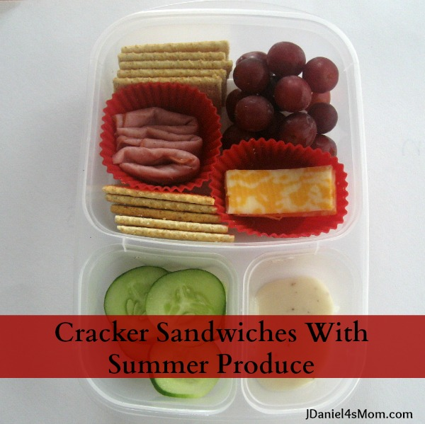 Cracker Sandwiches with Summer Produce