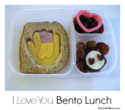 Kids Lunch -I Love You Bento Lunch