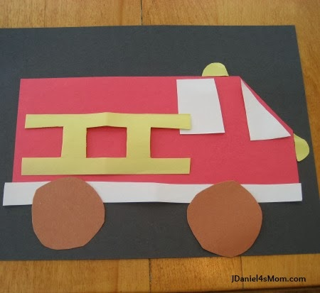 Fire Truck Craft for Kids