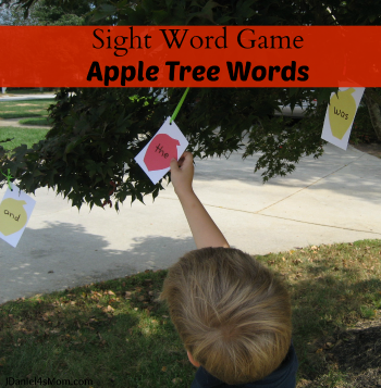 Sight Word Game - Apple Tree Words
