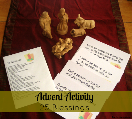 {Advent Countdown Activity} 25 Blessings
