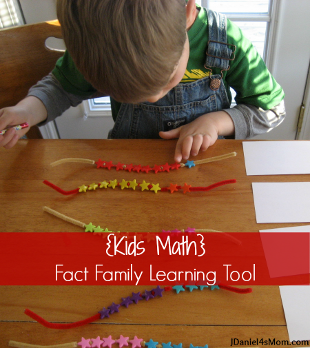 Kids Math -Fact Family Learning Tool