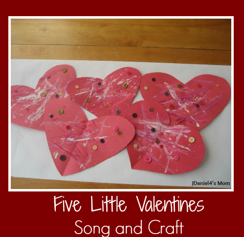 Five Little Valentines Craft and Song