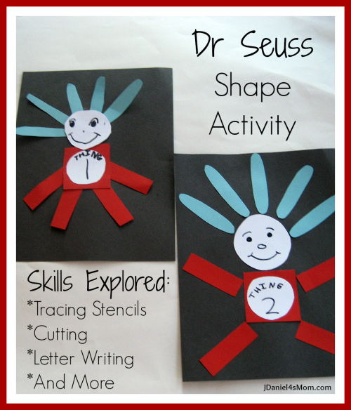 Dr Seuss Shape Craft