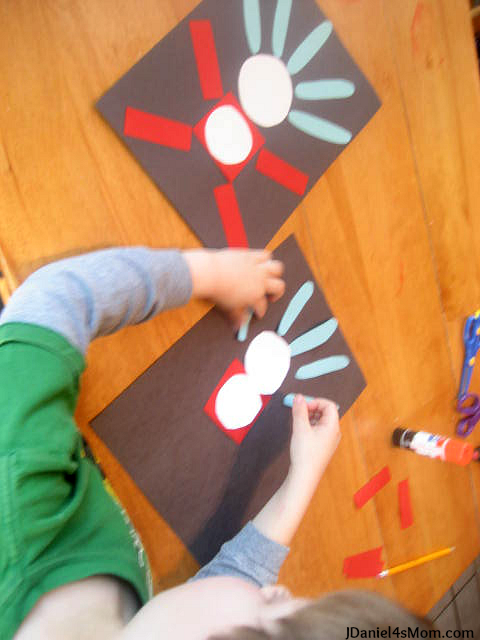 Assembling the Dr. Seuss Shape Activity Featuring Thing Two