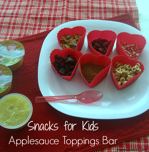 Snacks for Kids - Applesauce Toppings Bar