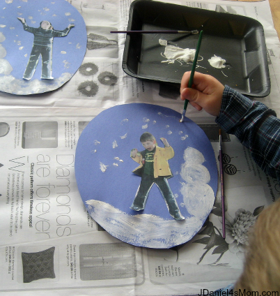 Snow Globe Craft for Kids - Mother and Son Themed Globes
