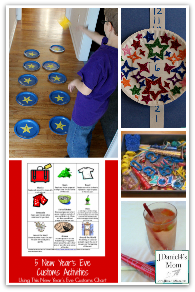 52 New Years Eve Games and Activities- What fun your children will have celebrating the end of one year and the beginning of the next with these wonderful activities.