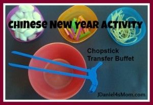 Chinese New Year Activities and Crafts- Chopstick Transfer