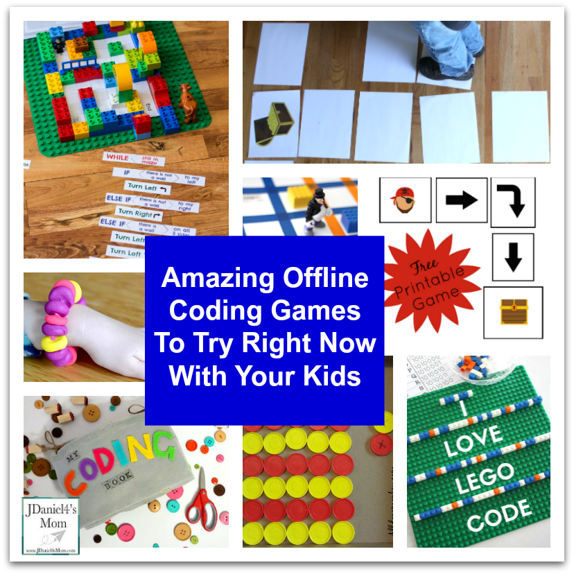 Amazing Offline Coding Games To Try Right Now With Your Kids - Please stop by and see this collection of printables, table top and floor activities that can be used to explore coding with your children at home or students at school.