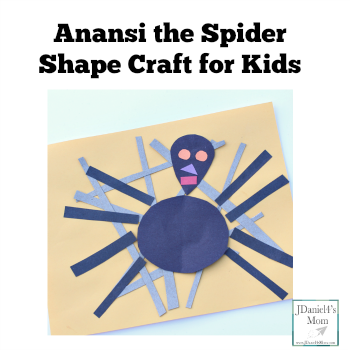 Anansi the Spider Shape Craft for Kids