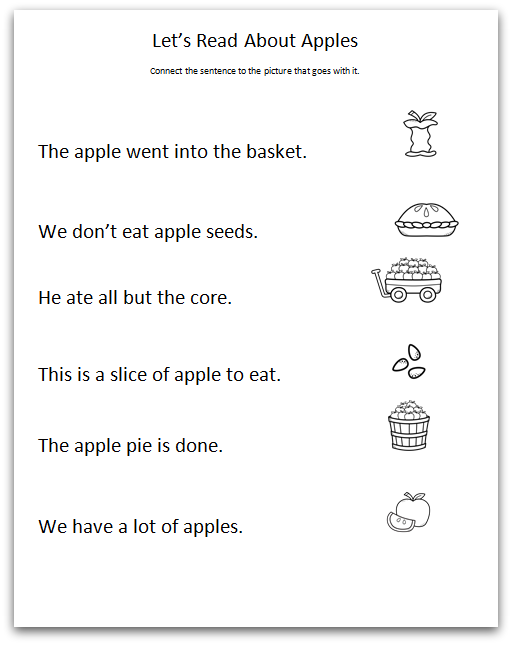 Apple Comprehension Page One