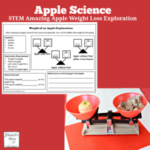 Apple Science STEM Amazing Apple Weigh Loss Exploration with Printable