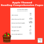 Apple Themed Reading Comprehension Worksheets for Preschoolers to Read and Explore
