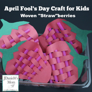 April Fool's Day Craft for Kids-Woven Strawberries