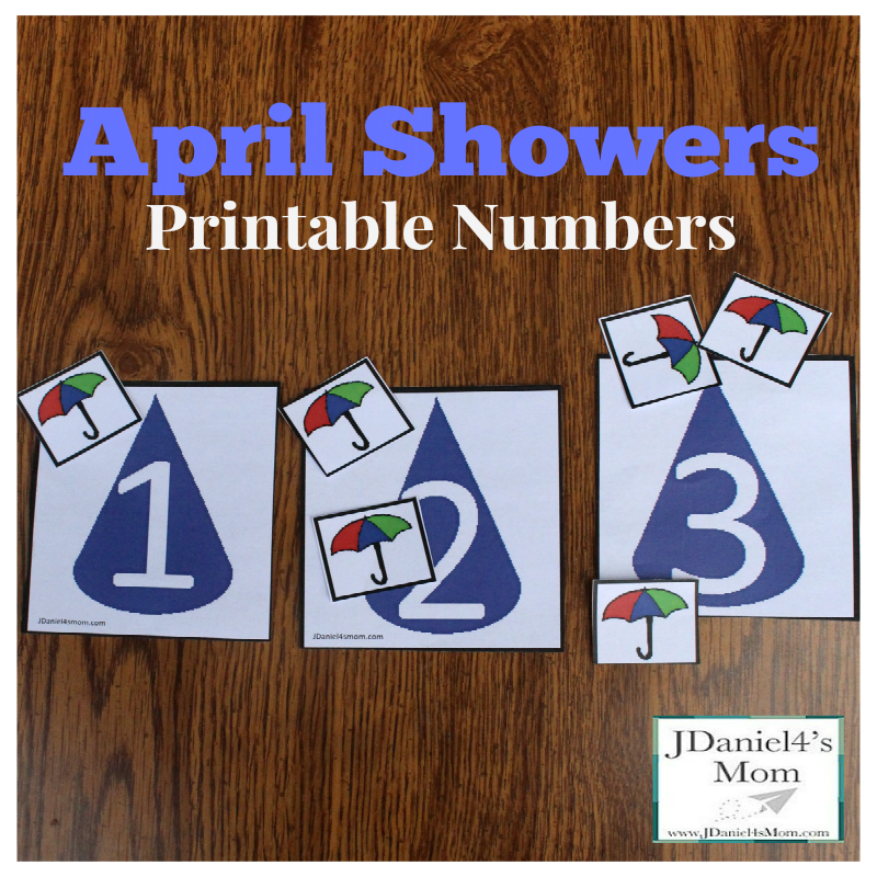 April Shower Printable Numbers