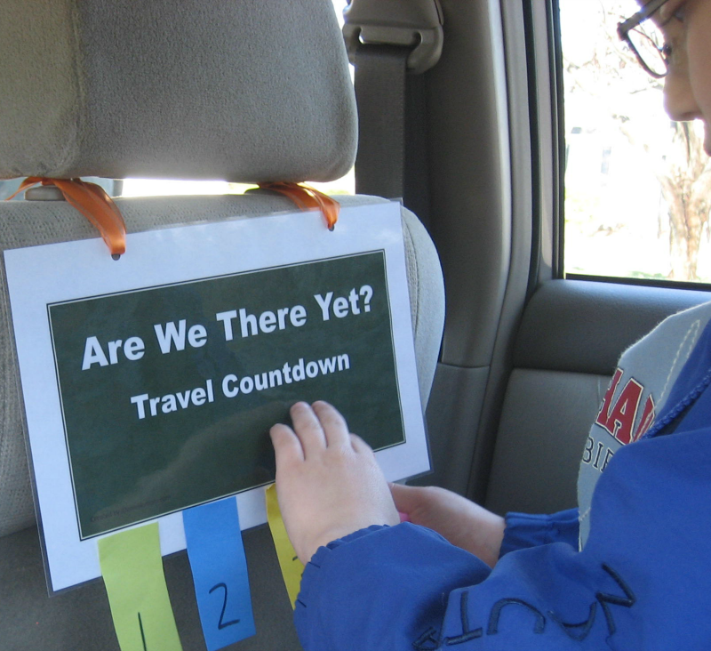Are We There Yet- Travel Countdown for Kids
