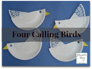 Art Projects For Kids- Four Calling Birds Craft and Coloring Page