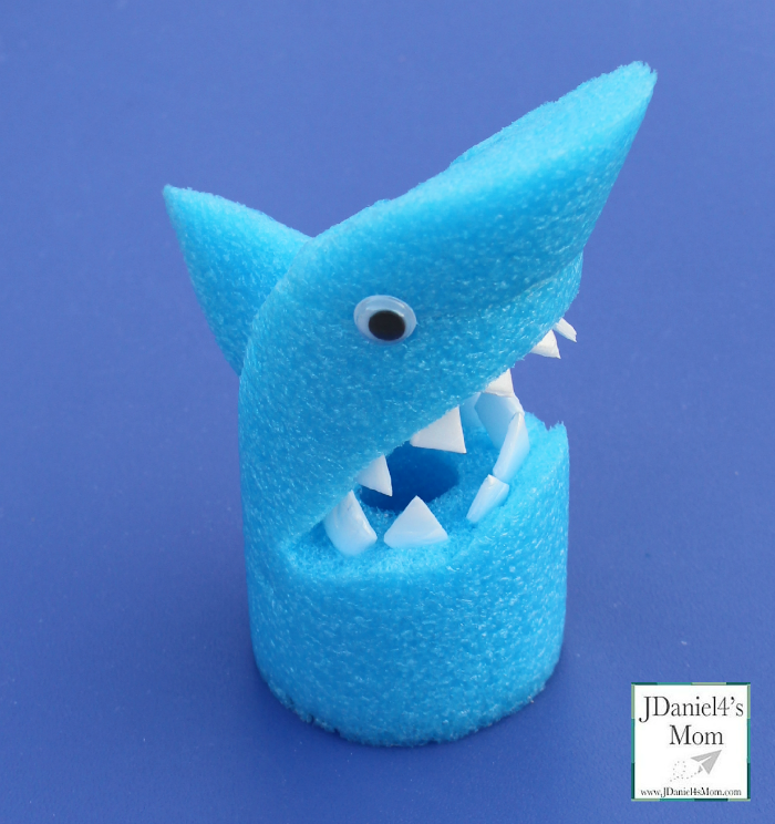 Arts and Crafts for Kids- Pool Noodle Shark (Fin)