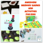 Awesome Memory Games and Activities for Kids- These homemade and store bought games and activities are so much fun! Kids may not even know they are working on their minds when they play them.