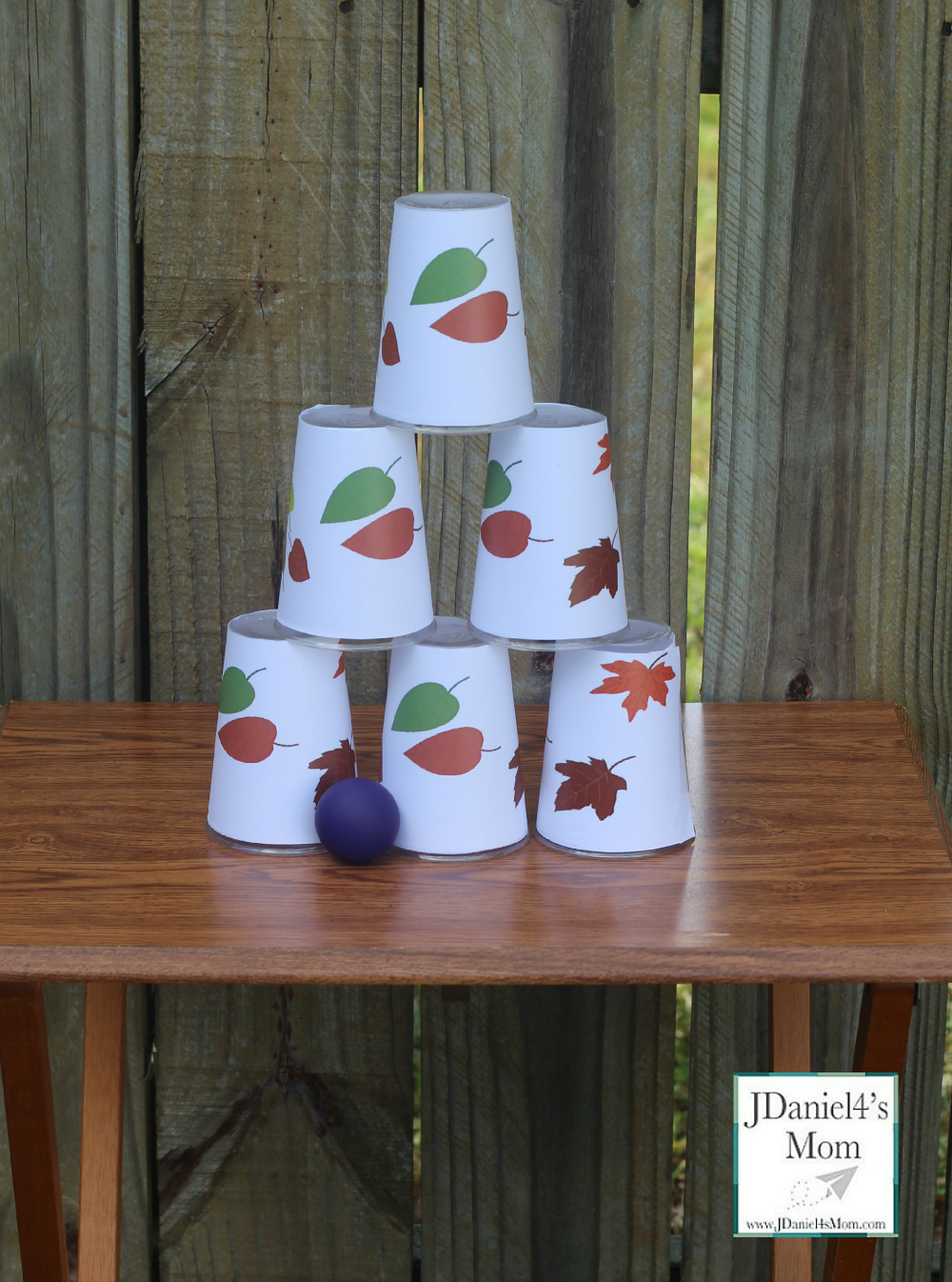 Backyard Carnival Games Falling Leaves Cups