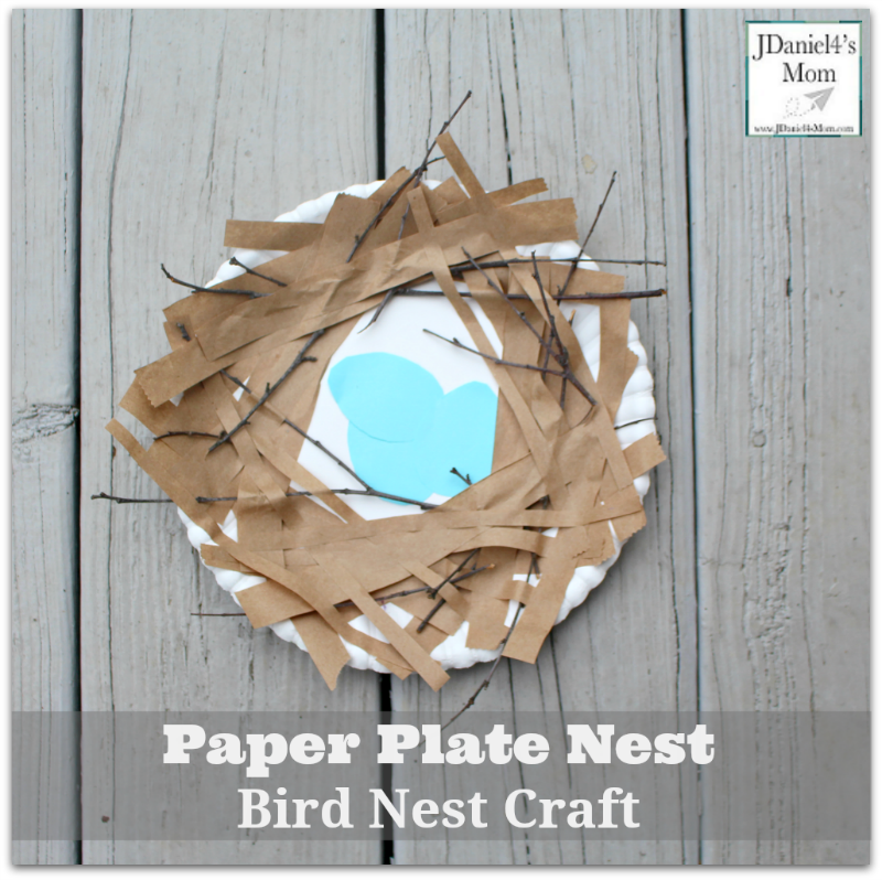 Bird Nest Craft Paper Plate Nest- This fun craft would be fun to while studying birds or Spring.