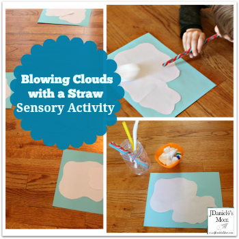 Sensory Activity- Blowing Clouds with a Straw