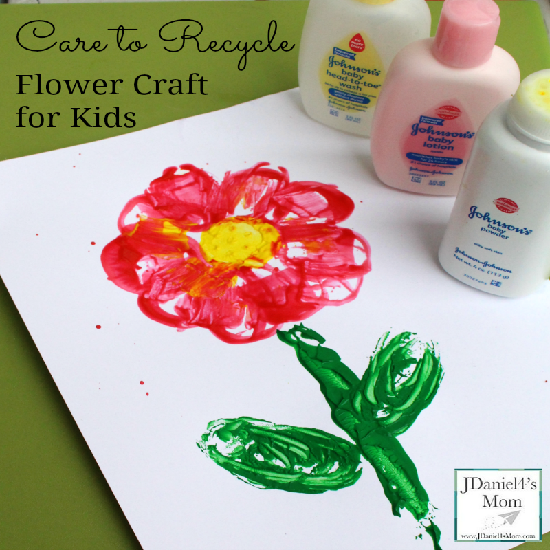 Care to Recycle Flower Craft for Kids