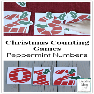 Christmas Counting Games- Peppermint Numbers