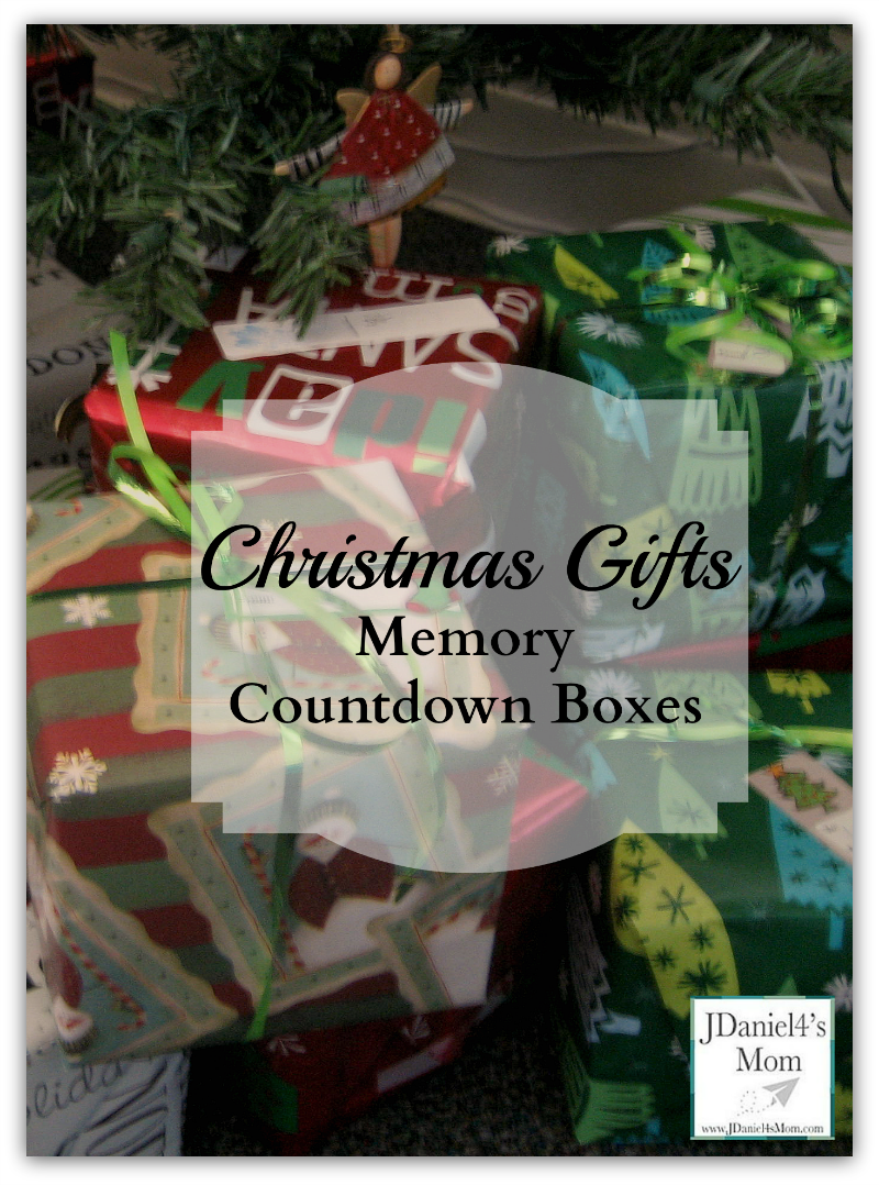 Christmas Gifts -Memory Countdown Boxes
