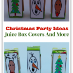 Christmas Party Ideas- Juice Box Covers and More